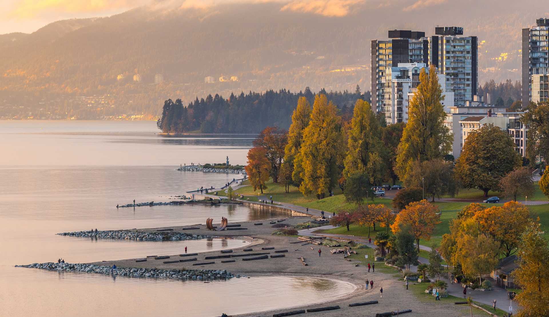 Sunset Beach in the fall