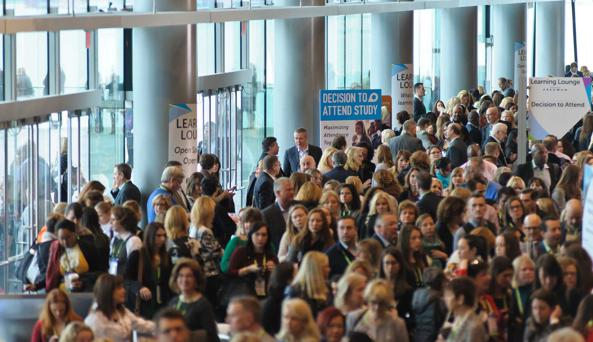 Vancouver Convention Centre: Busy Ballroom Foyer
