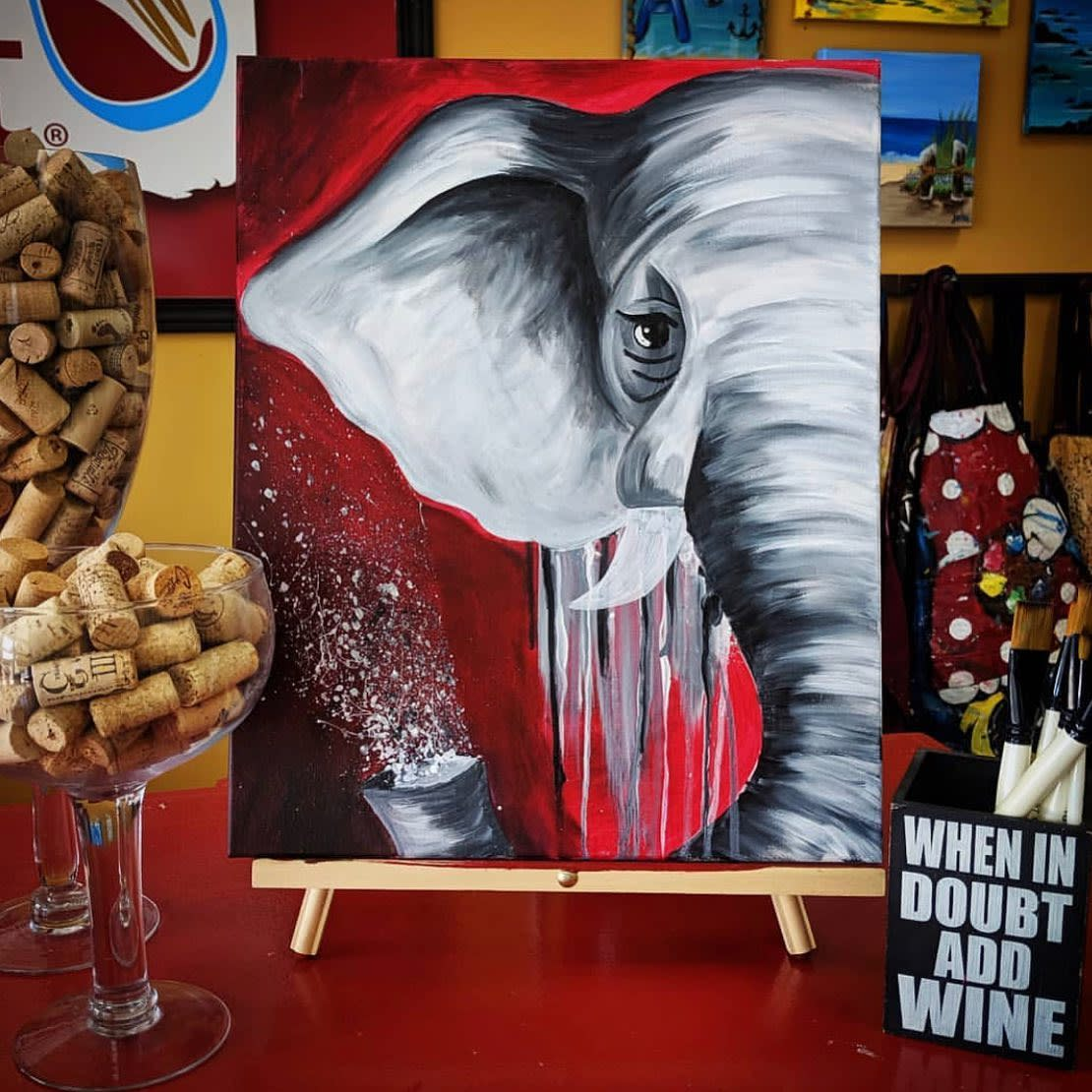 Painting with a Twist Elephant Canvas