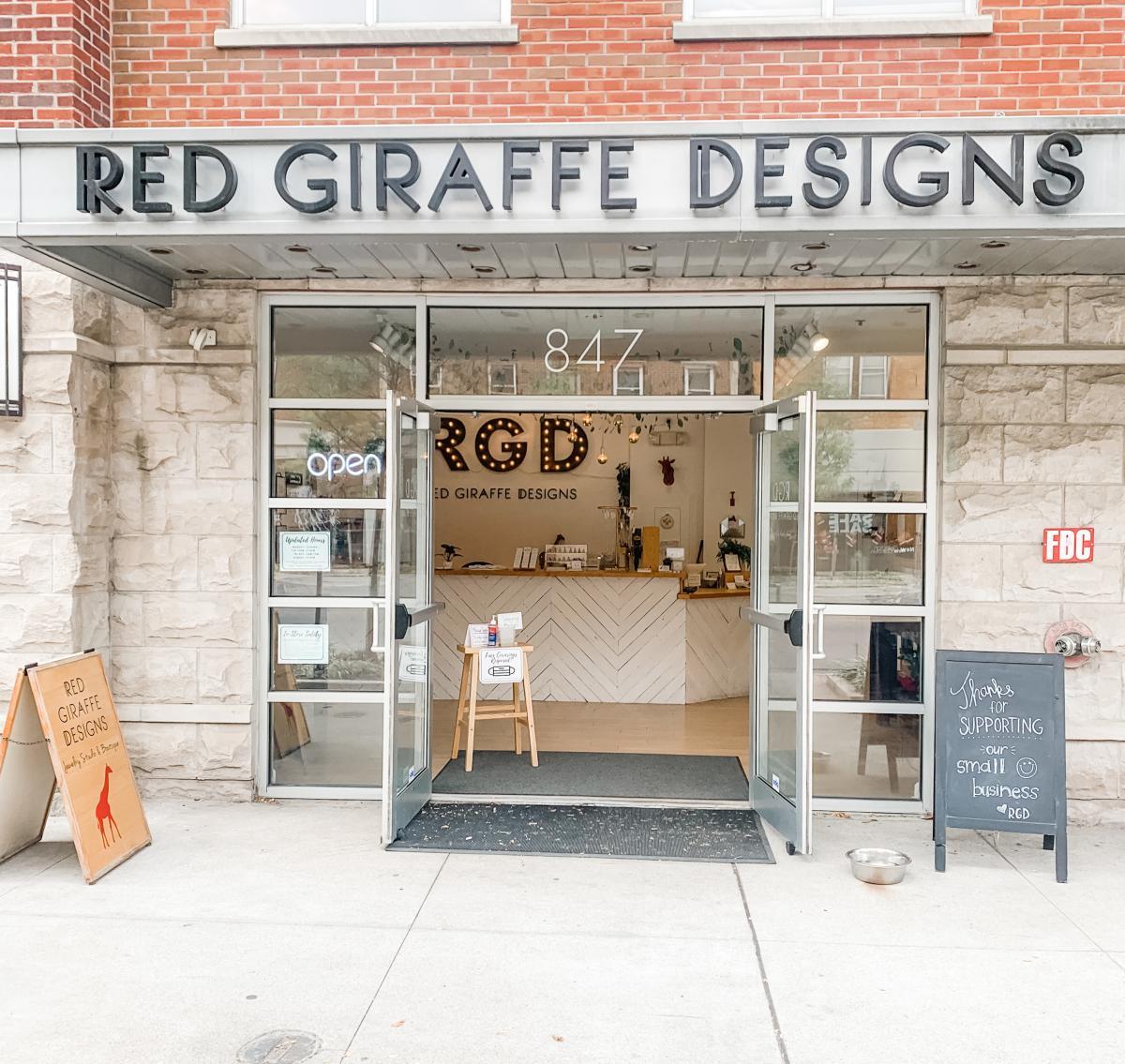 Short North storefront of Red Giraffe Designs