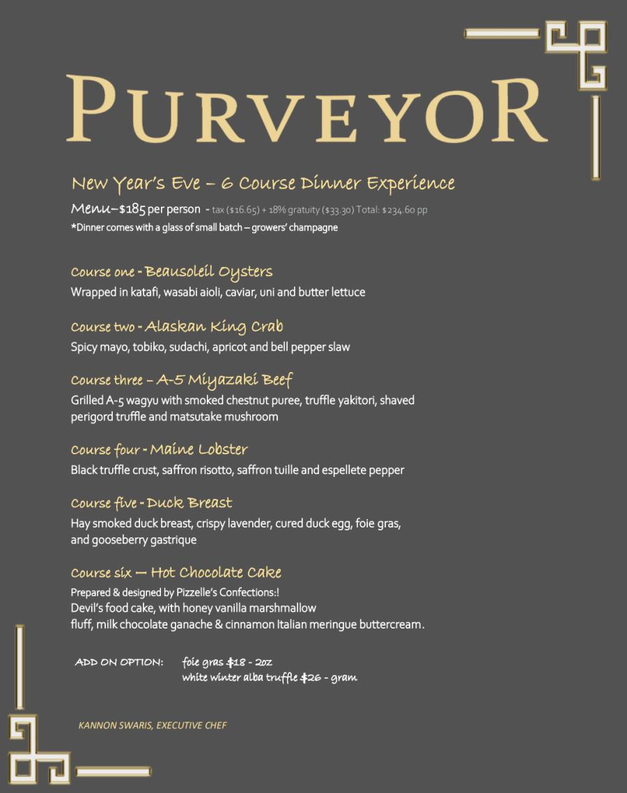 Purveyor NYE 2021