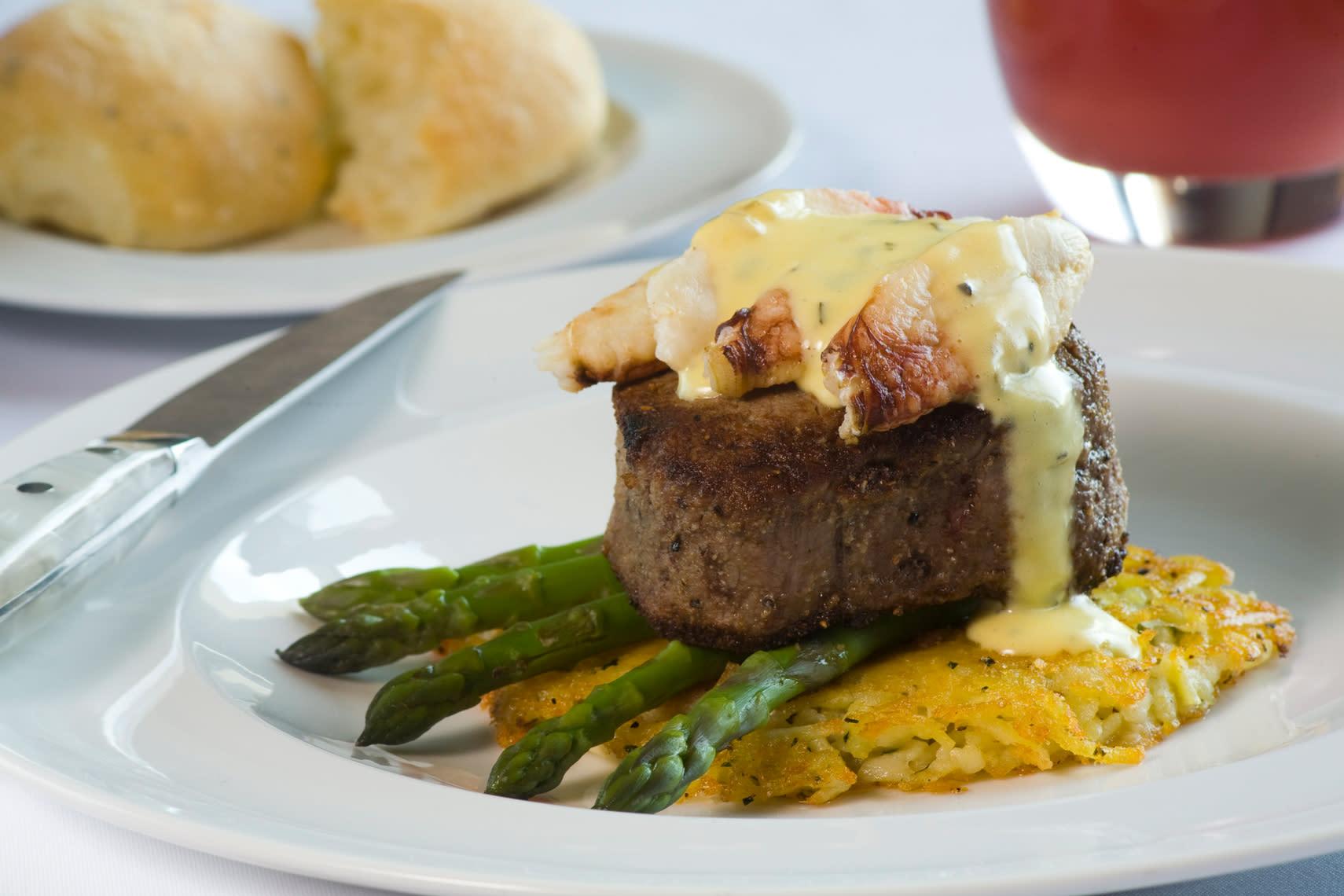 Delicious steak drizzled in signature sauce