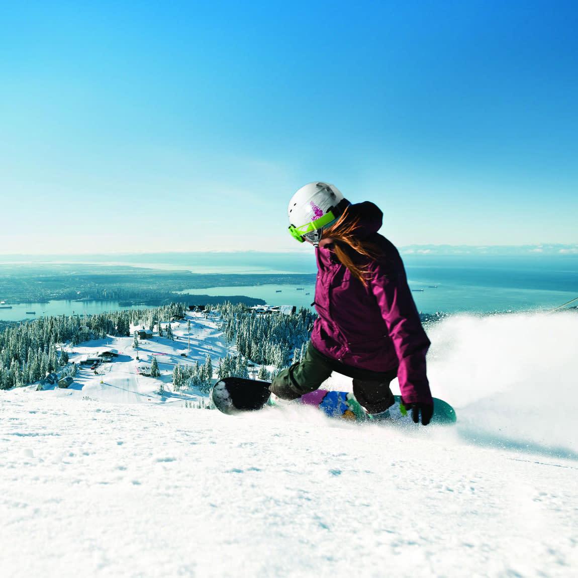Grouse Mountain snowboarding