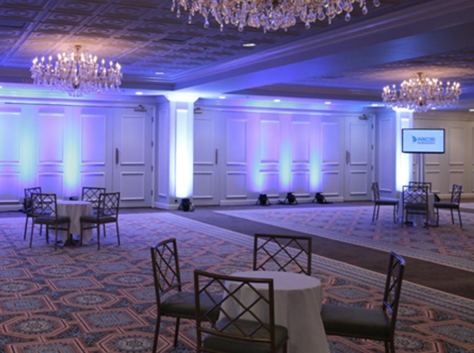 Empty hotel ballroom