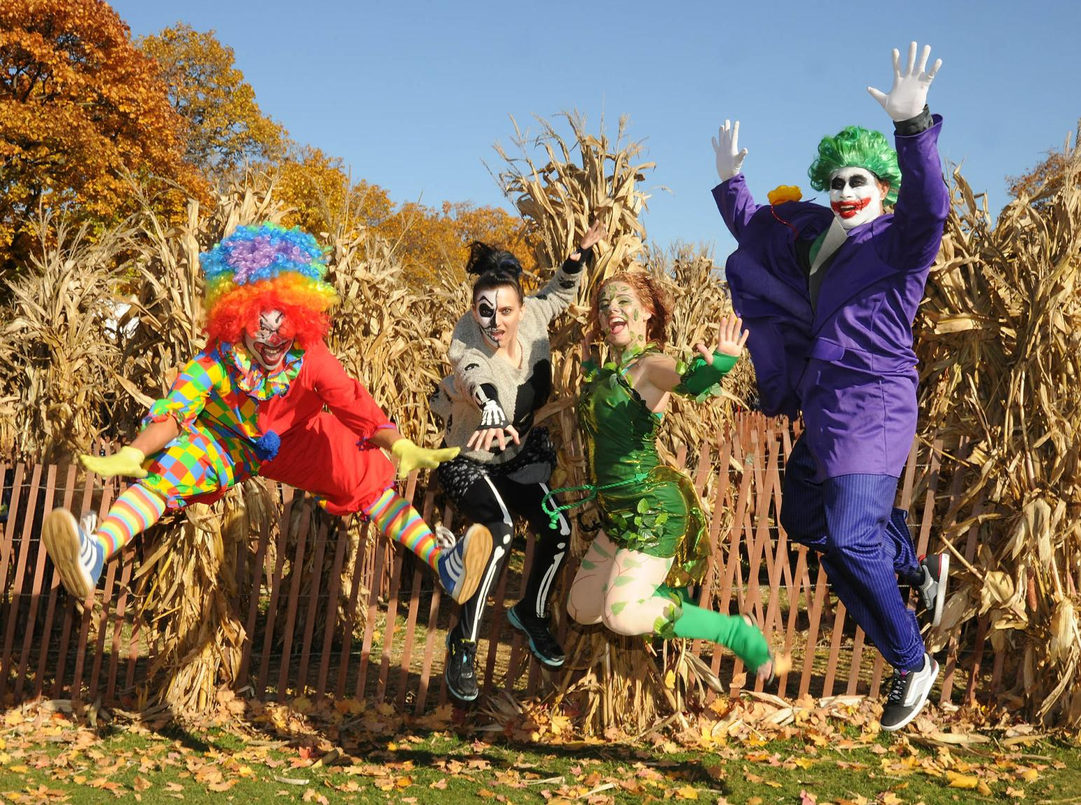 Clowns and performers from Boo! at the Zoo at the Brookfield Zoo in Dupage County