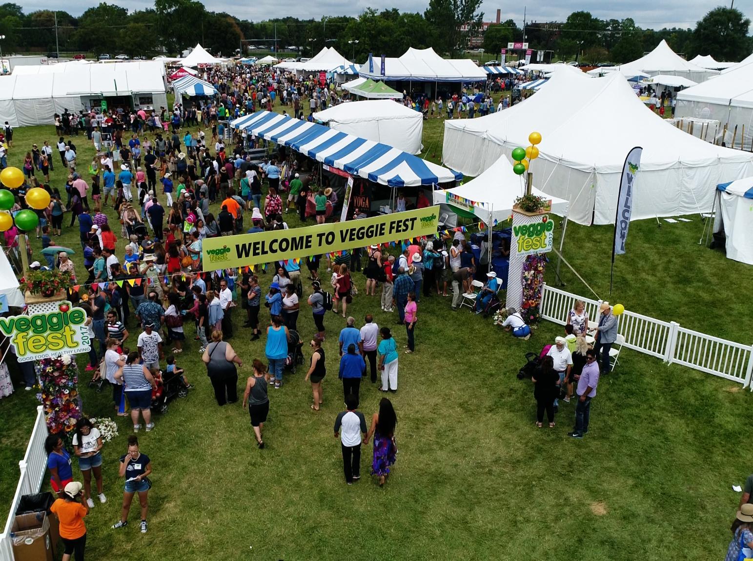 Crowd at Veggie Fest