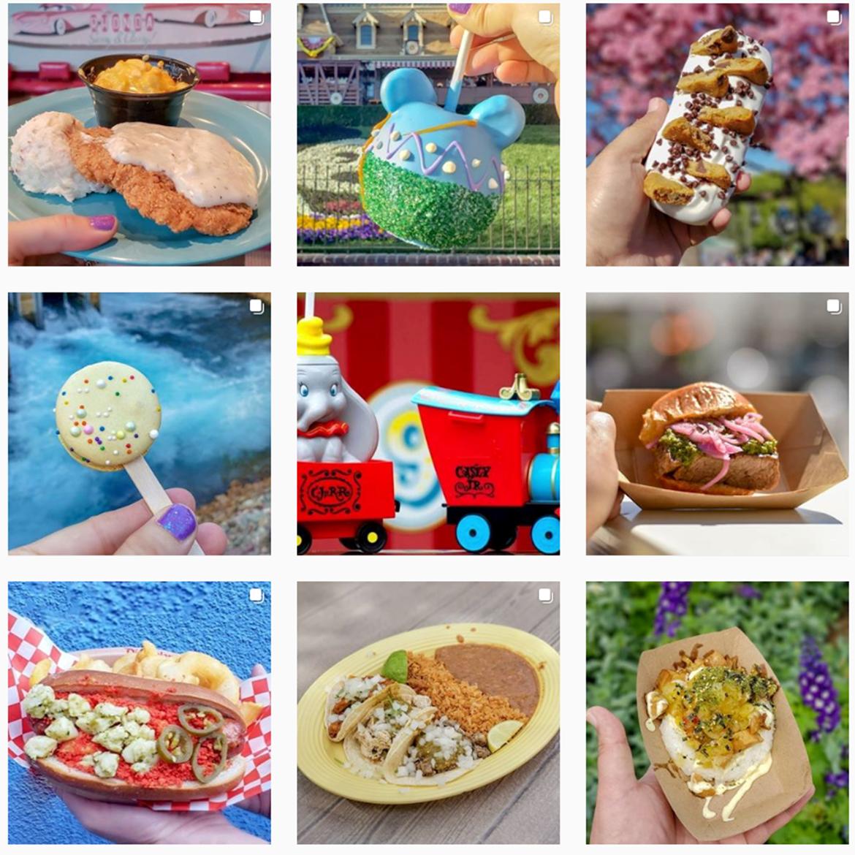 Food at Disneyland on Instagram