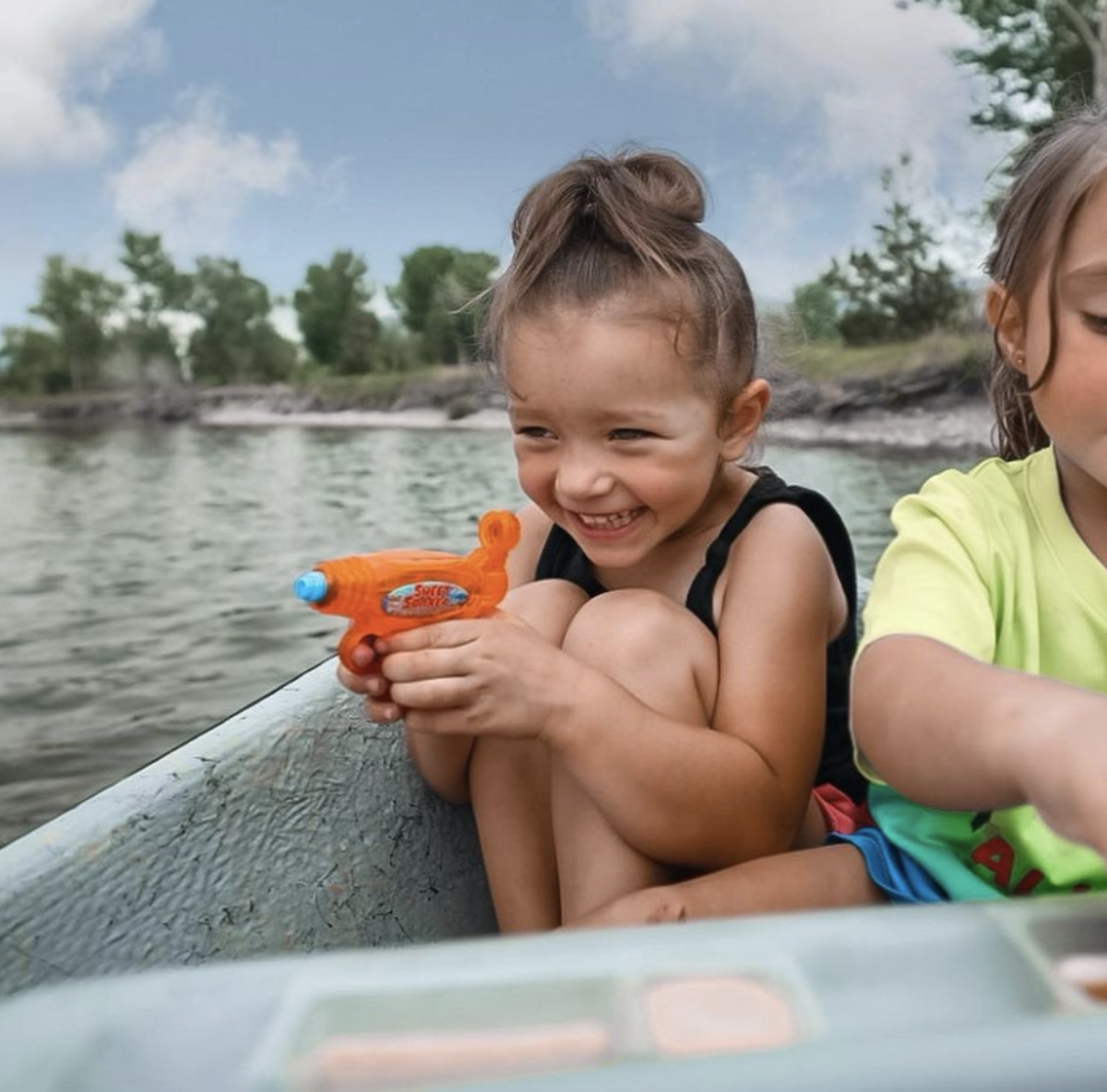 Child Floating the North Platte River