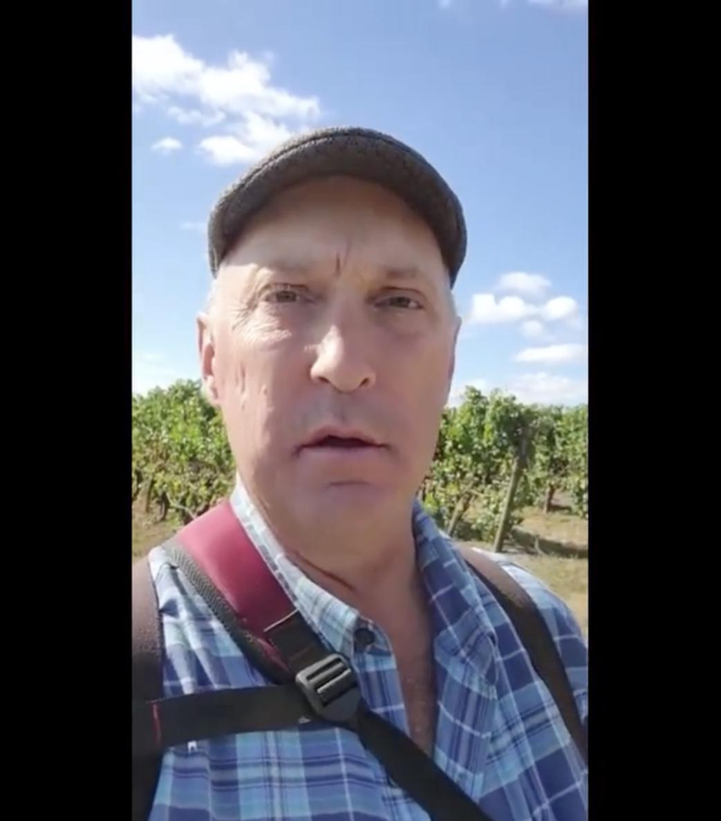 Screenshot of Van Duzer Vineyard Manager Bruce Sonnon in vineyard