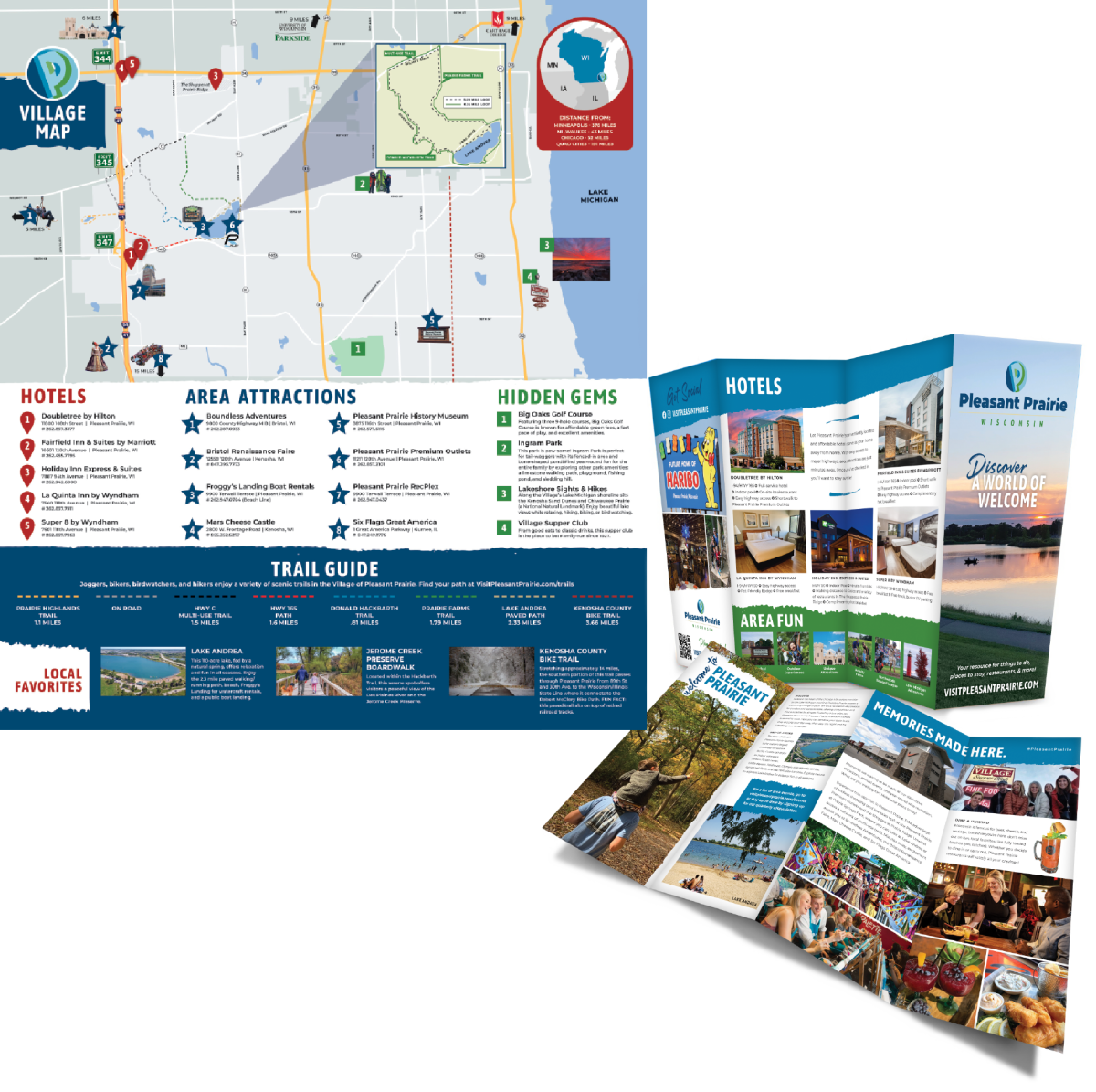 2021 Mini Guide Map With Attractions, Trails, & More