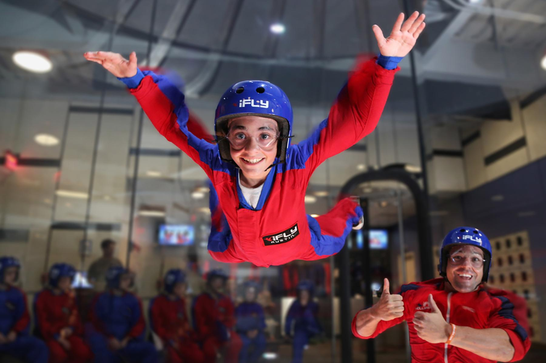 Kids fun at iFly indoor skydiving