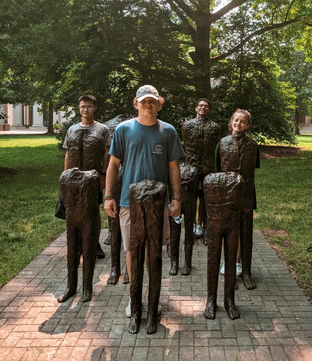 Davidson College sculpture Group of Ten