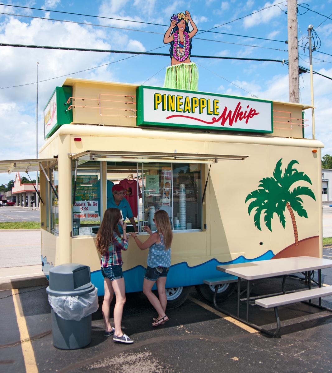Girls getting Pineapple Whip