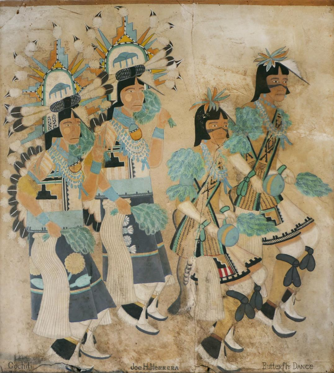 Historic Murals: Joe H. Herrera's Cochiti Butterfly Dancers, New Mexico Magazine