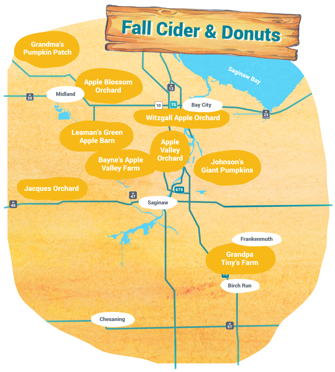 Self-Guided Tours - Fall Cider and Donuts Map