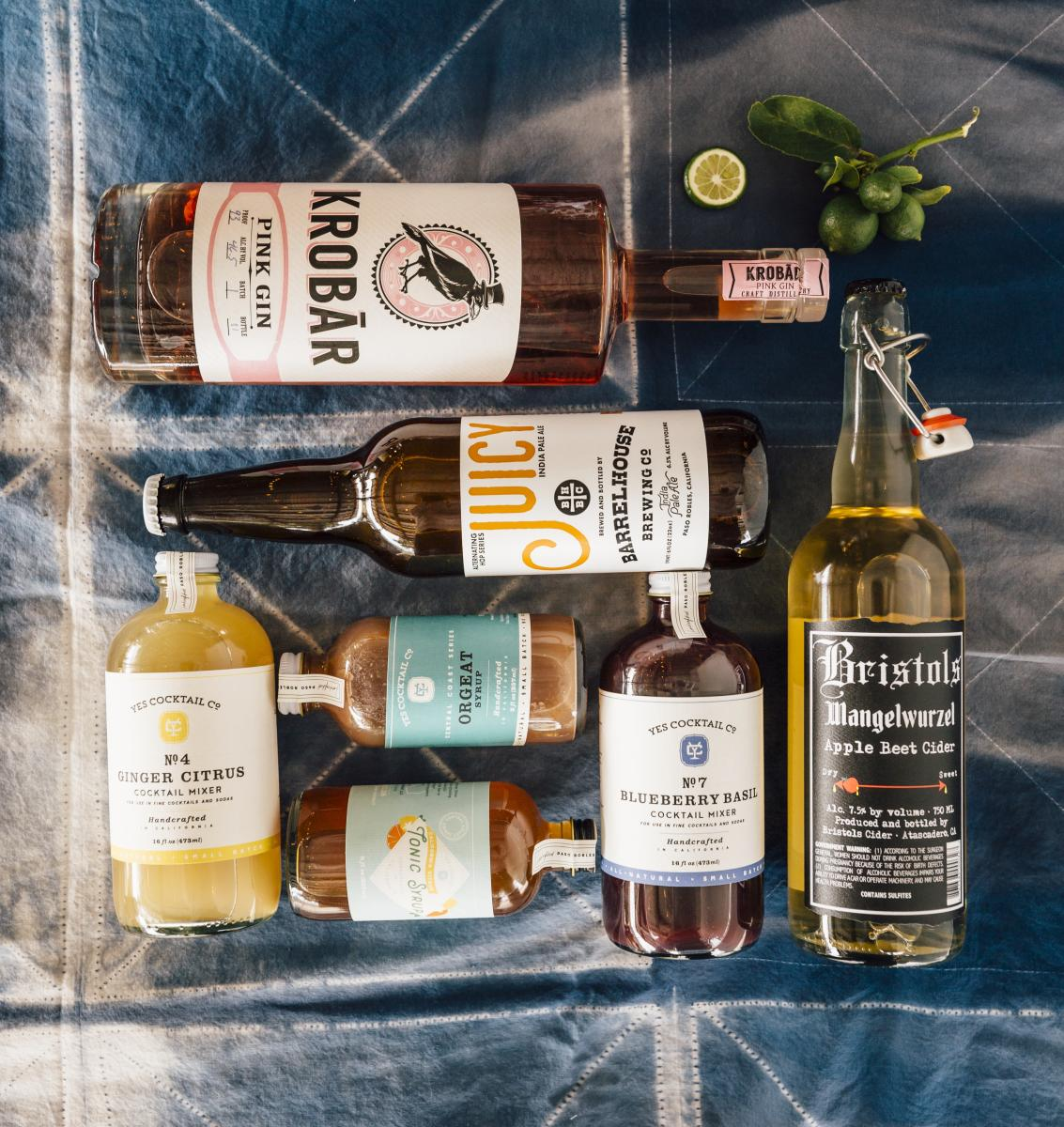 Collection of SLO CAL Crafted Alcoholic Beverages
