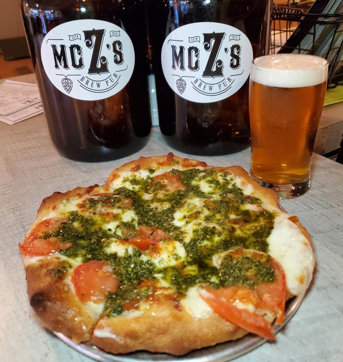McZ's Tomato Bazil Pizza