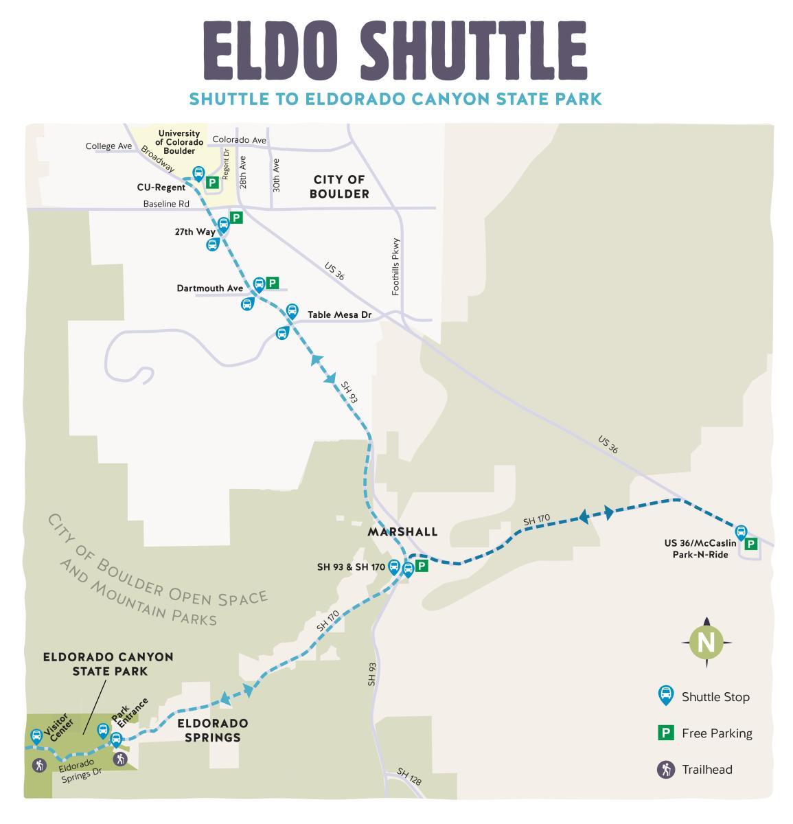 Eldo Shuttle Map 2021
