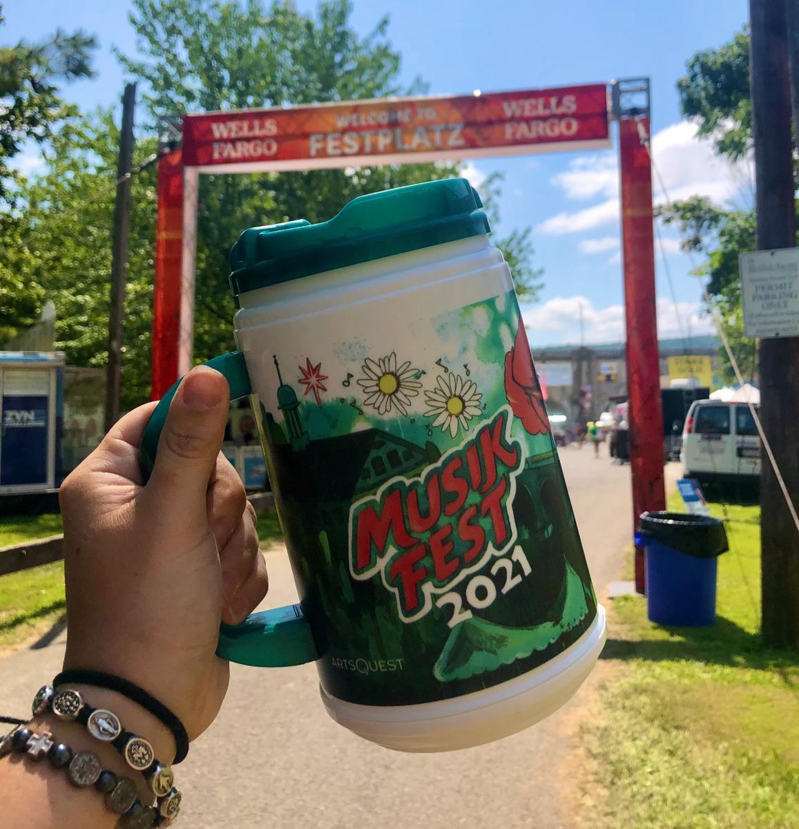 A Musikfest mug at Fest Platz at Musikfest in Bethlehem, PA