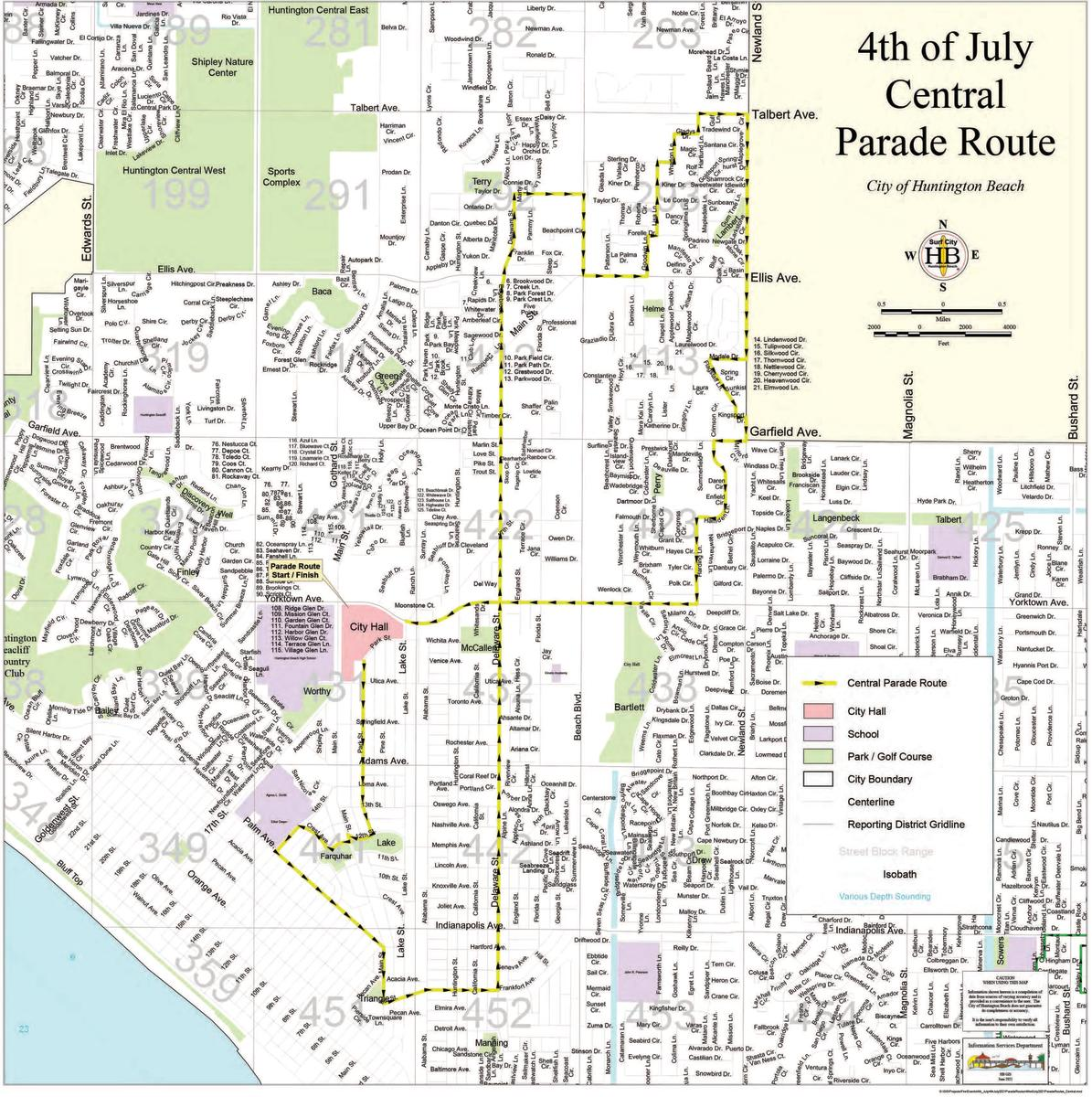 Huntington Beach 4th of July Parade Route