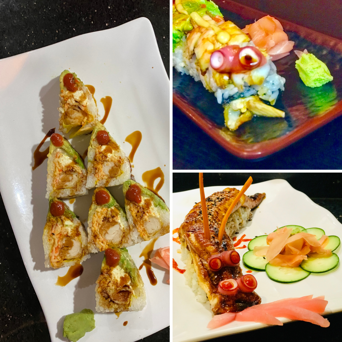 Selection of food from tokyo sushi in Beaumont, TX