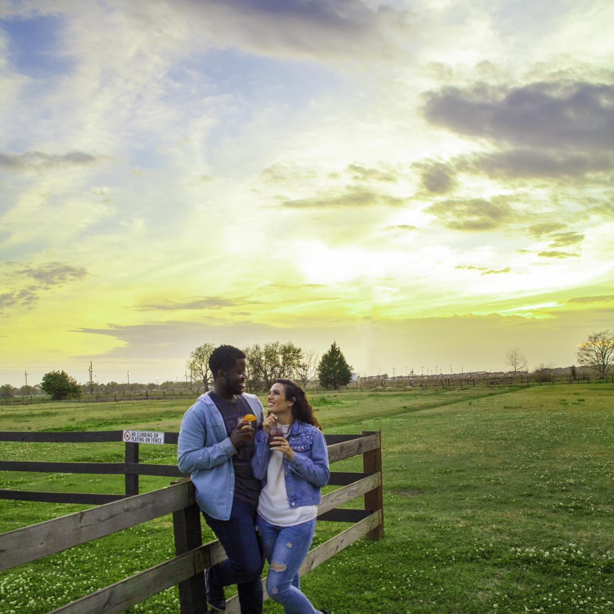 Amelia sunset couple