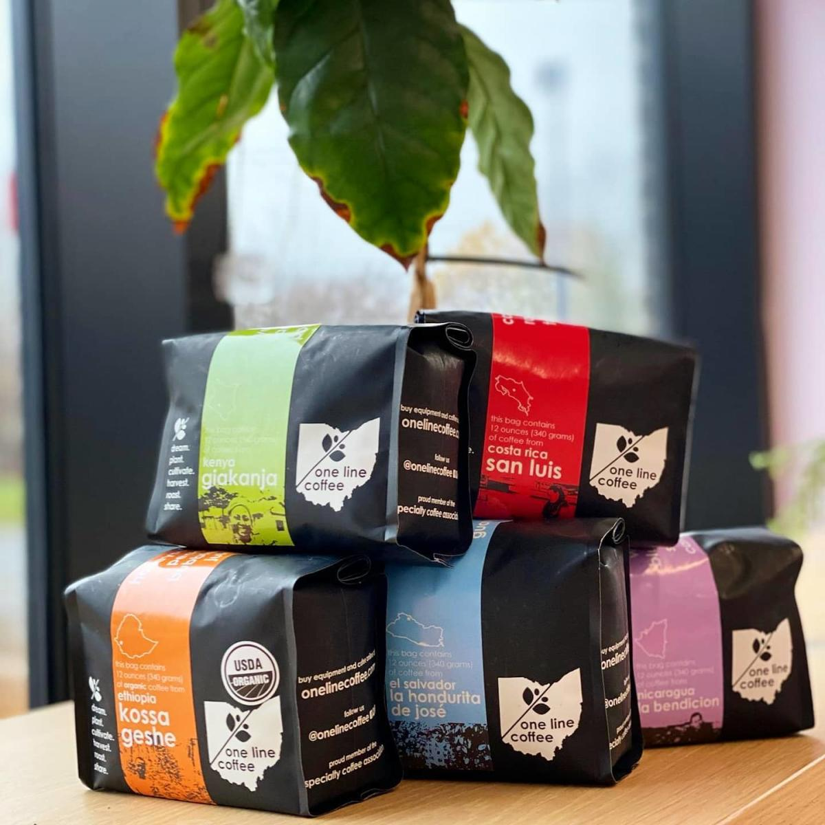 Coffee bags from One Line