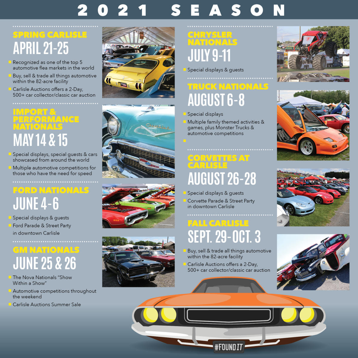 2021 Car Show Dates Infographic