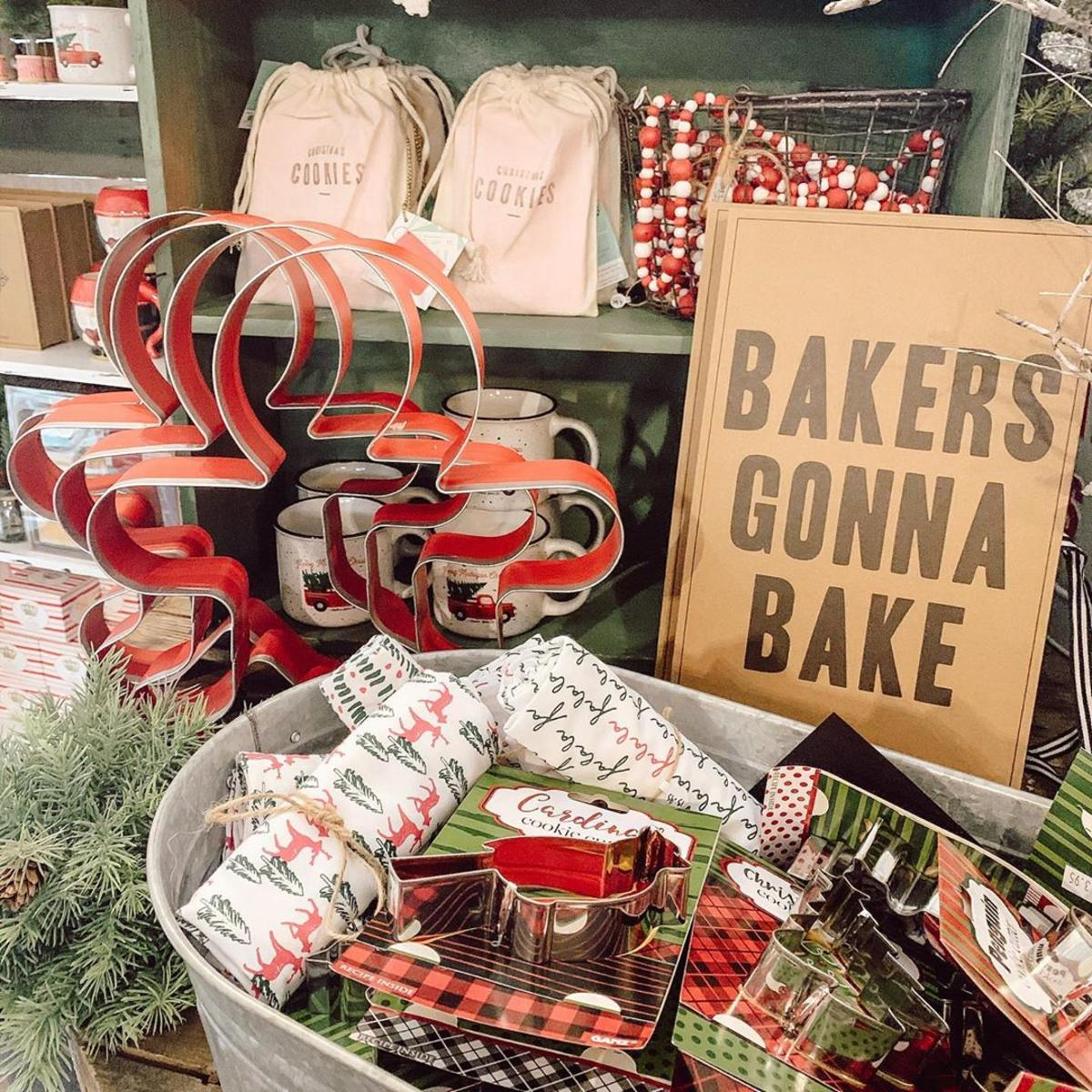 Holiday baking items, gifts, and goodies at Serendipity Road in Midland