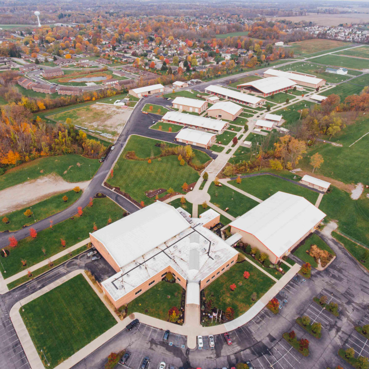 square Copy of Hendricks County 4-H Fairgrounds & Conference Complex aerial view