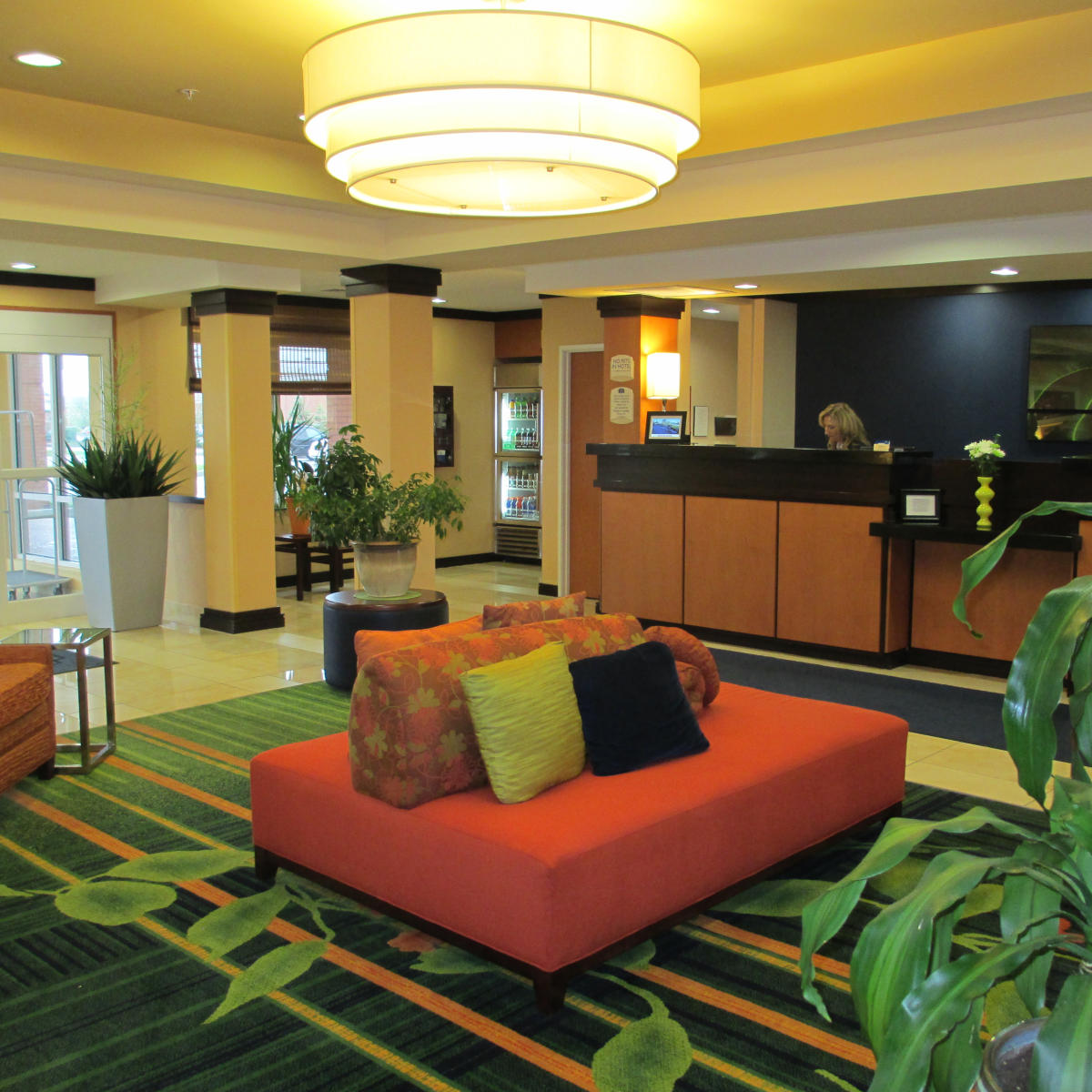CROPPED SQUARE Fairfield Inn & Suites lobby in Avon