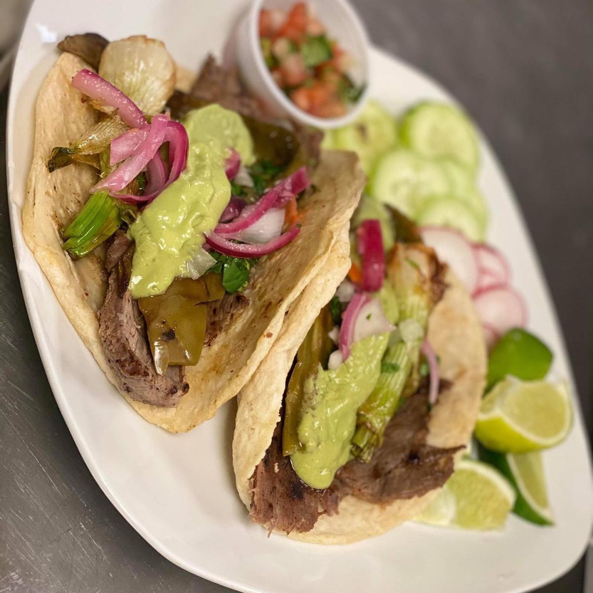 Tacos from Taqueria El Mexicano in Lafayette, LA.