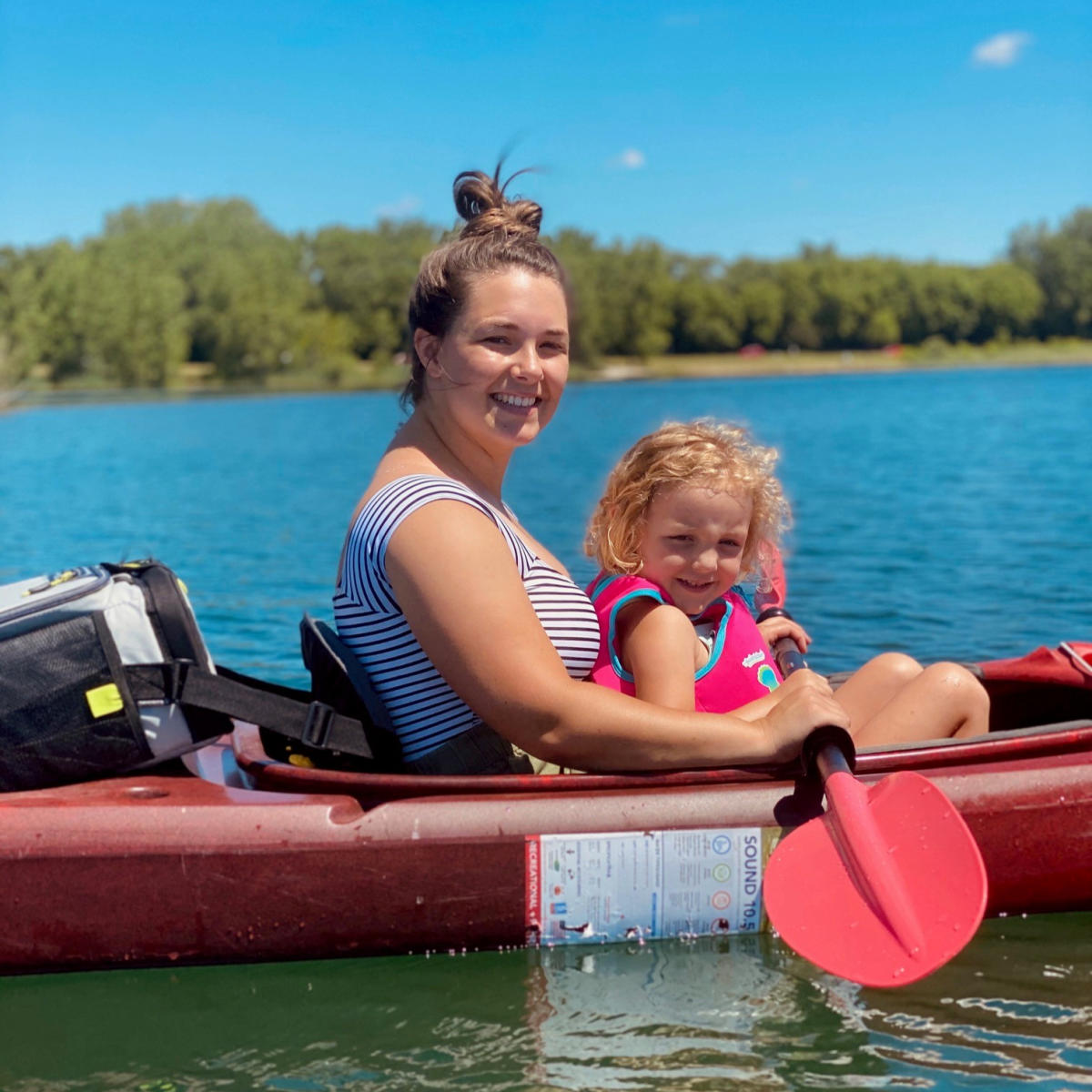 Lake Andrea Kayakers - Mother and Daughter
