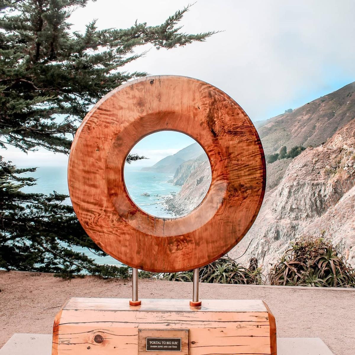 Portal To Big Sur Sculpture at ragged point in San Luis Obispo