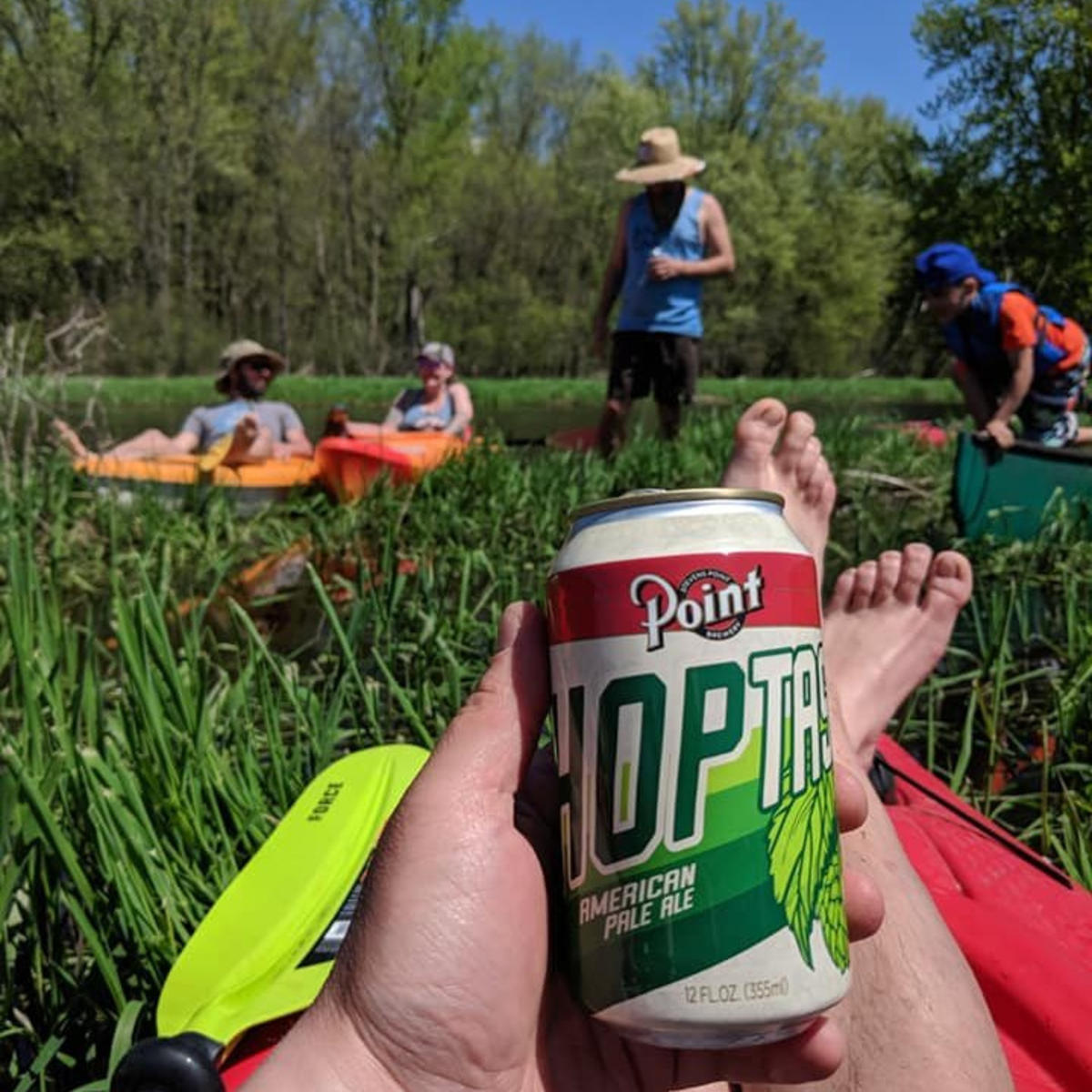 Paddling the Plover River, in the Stevens Point Area.