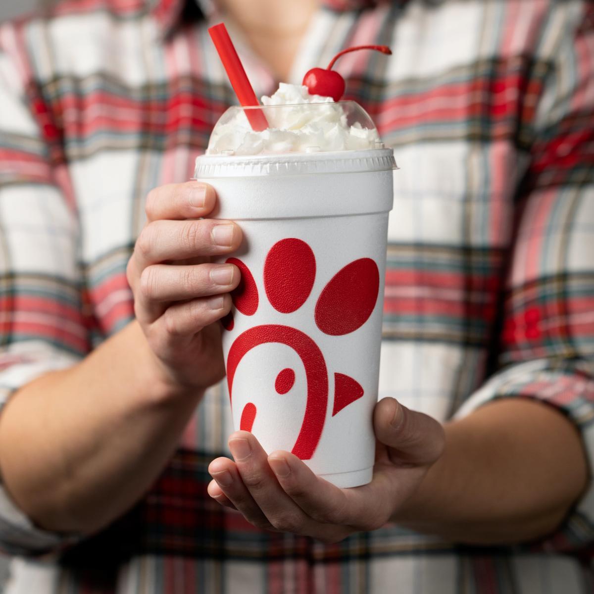 Peppermint Milkshake, photo courtesy of Chick-fil-A