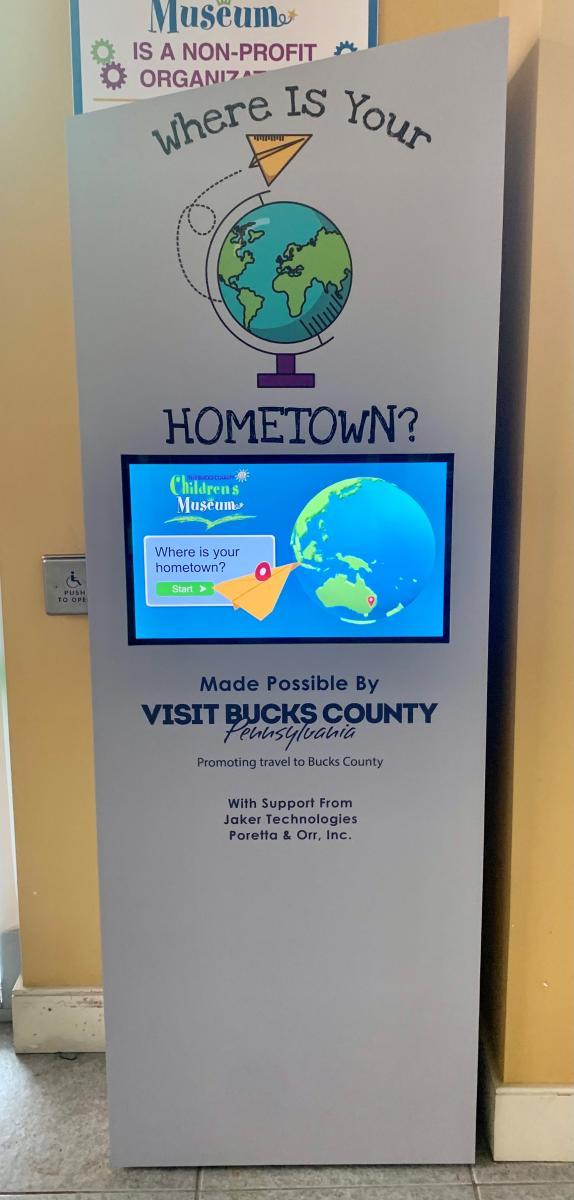 Bucks County Children's Museum kiosk