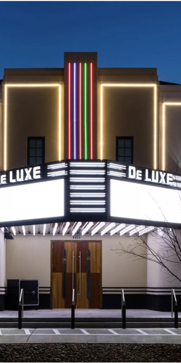 Exterior of the DeLuxe Theater in Houston, TX