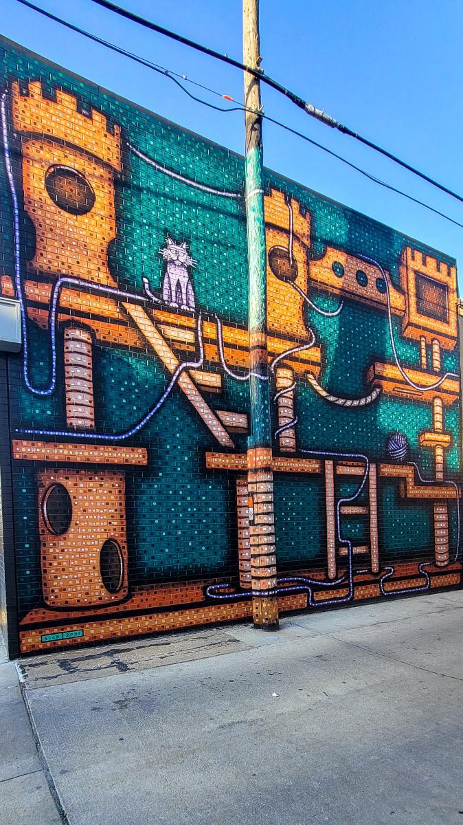 Kitty Castle Art Mural