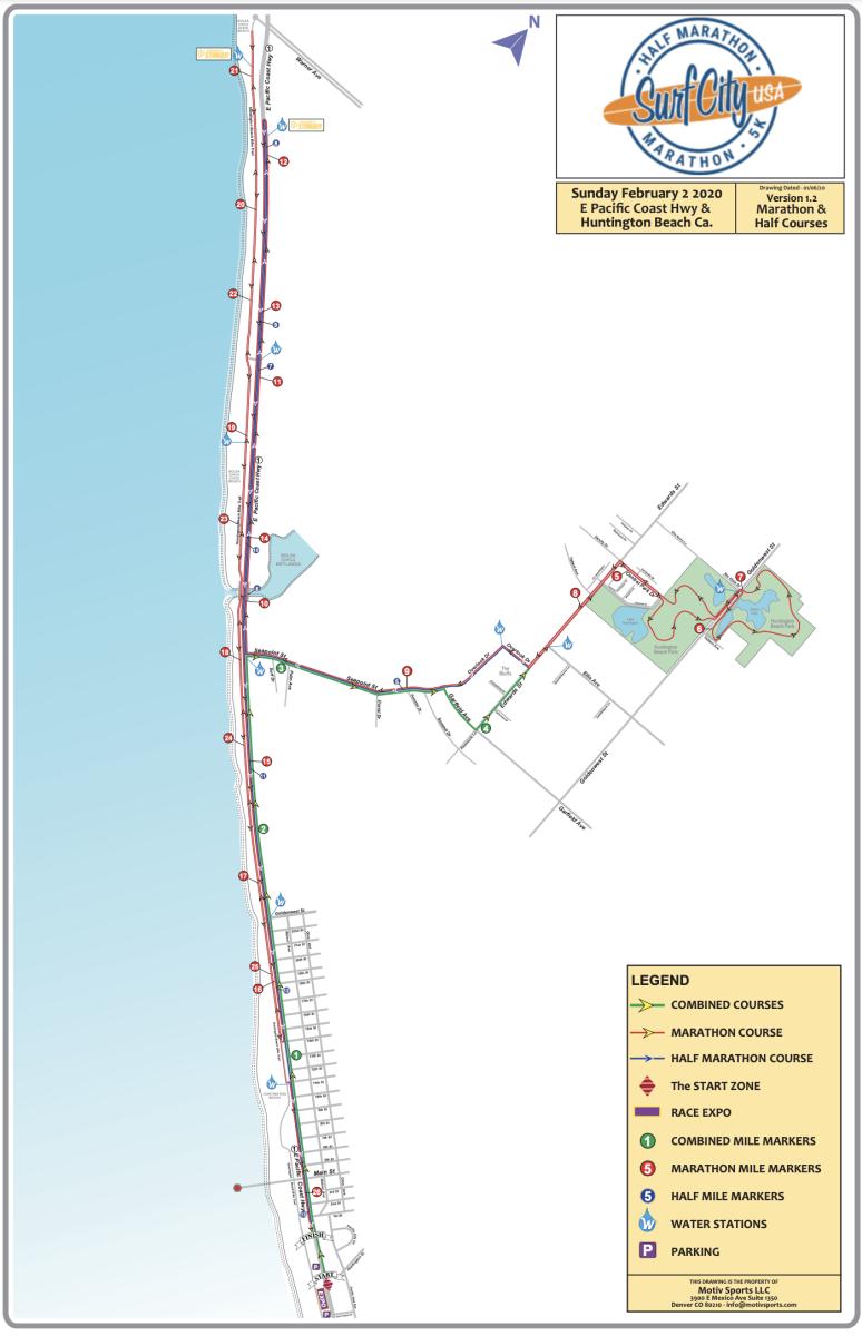 Surf City Marathon Map