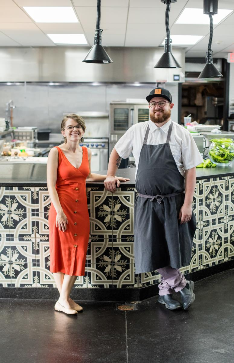 Chef Sean Sinclair and his wife, Katey, craft culinary experiences at the Castañeda Hotel, New Mexico Magazine