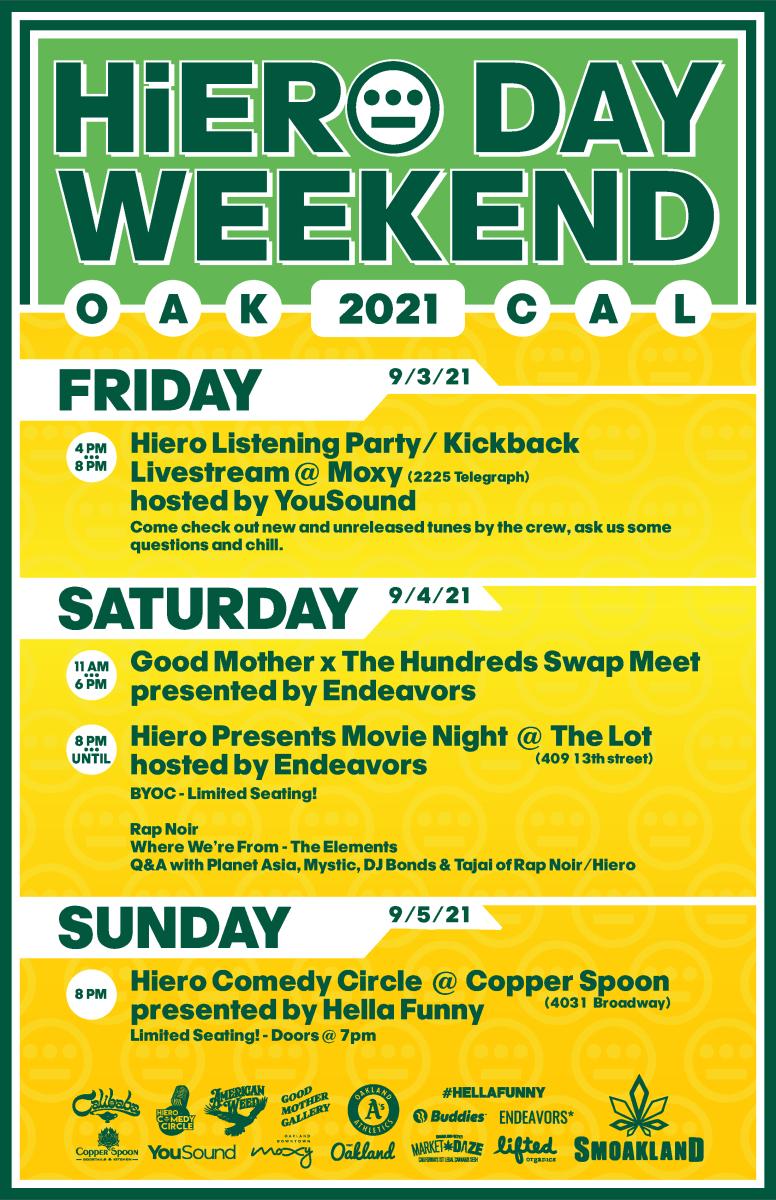 Hiero Day 2021 Schedule