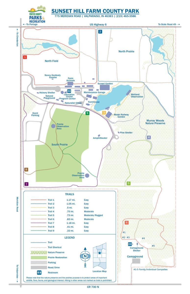 Sunset Hill Farm County Park Map