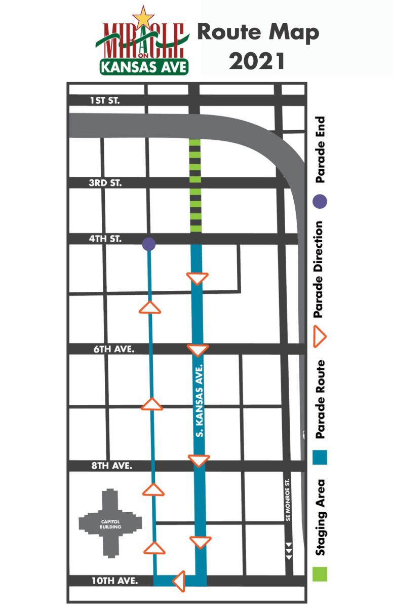 Miracle On Kansas Avenue Map 2021   Topeka, KS