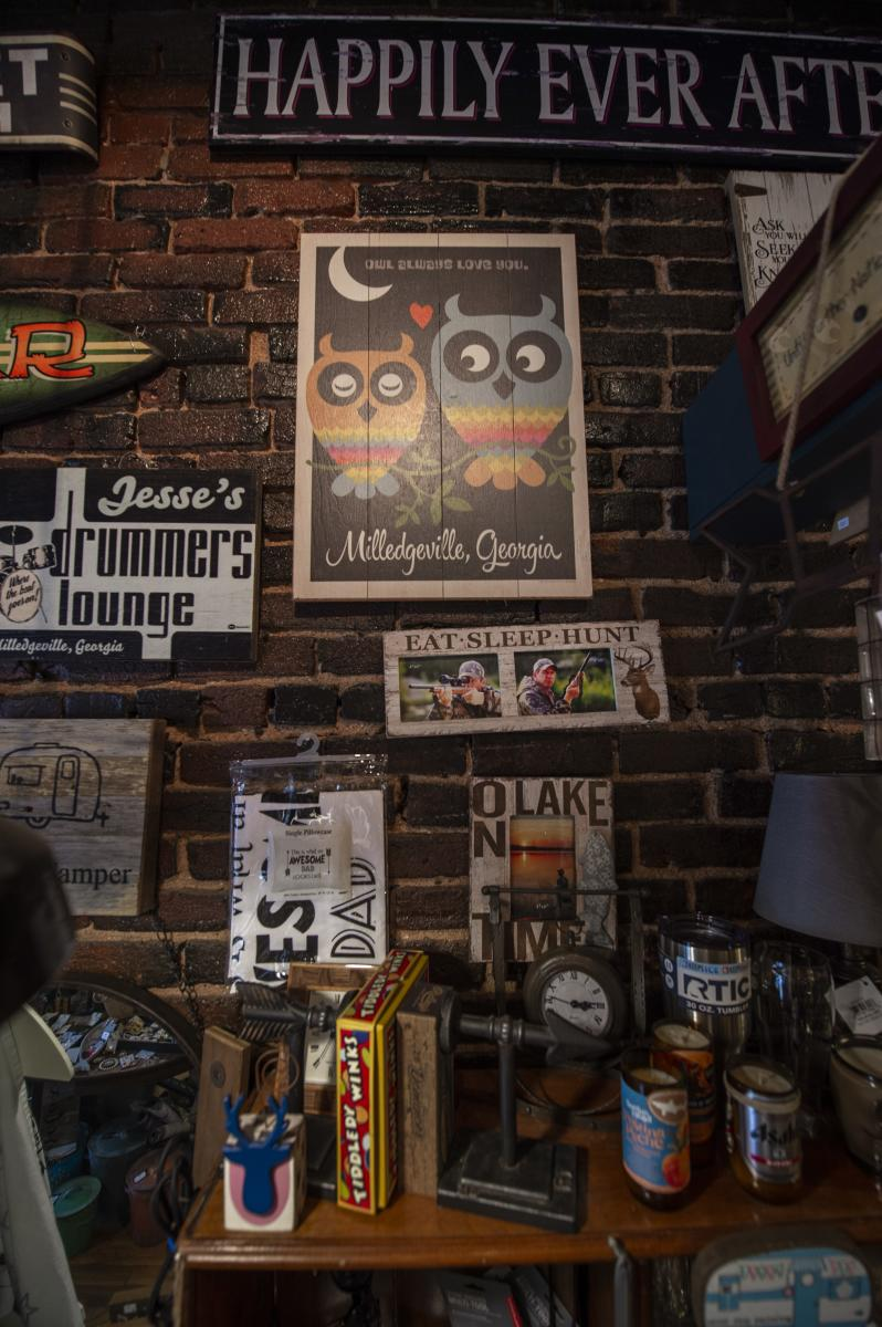 Decor at Eclectic in downtown Milledgeville