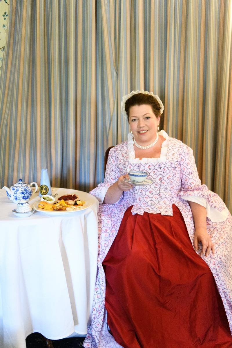 Tea with Martha Washington at Mount Vernon