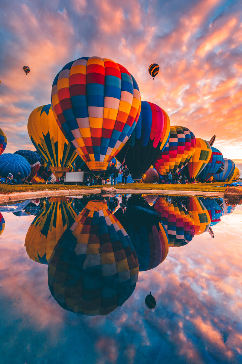 Balloon Reflection, Photograph by Ian Beckley, New Mexico Magazine
