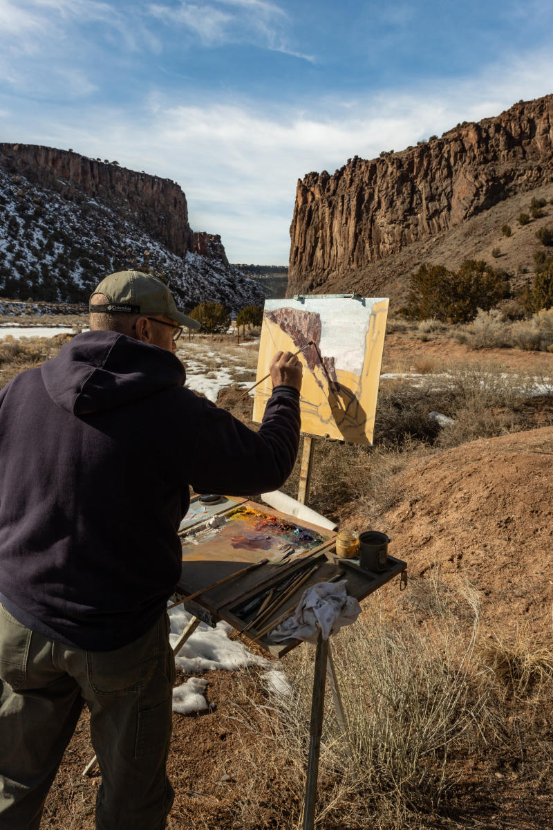 Painting at Santa Fe's Diablo Canyon