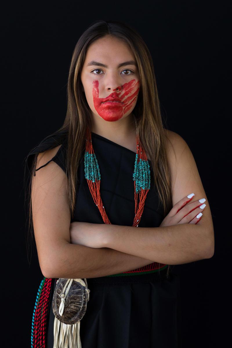 Franki Maestas Chavez, Ohkay Owingeh, Photograph by Ron Cooper, New Mexico Magazine