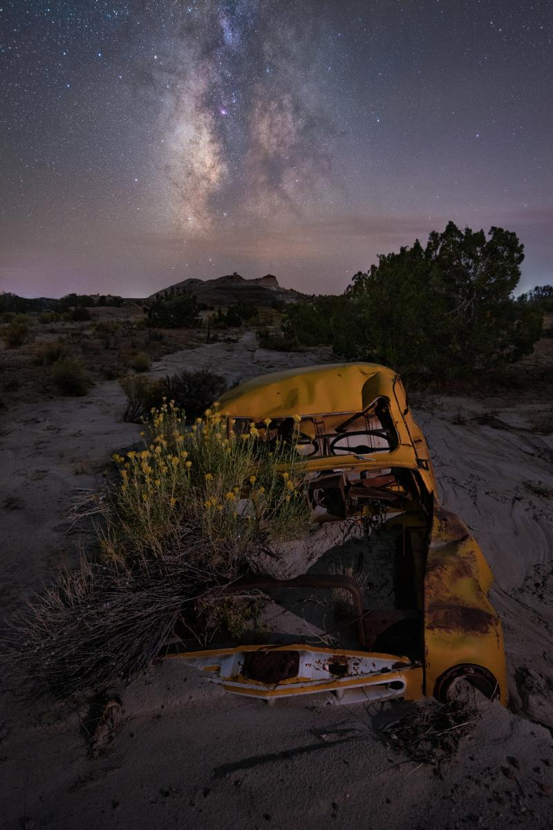 Buried in the Badlands, Photograph by Jake Werth, New Mexico Magazine